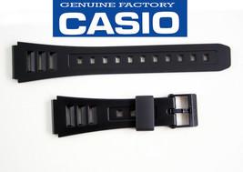 Genuine Casio  Watch Band 19mm Black Strap Rubber  W-71 W-71MV  W-86 - $11.65