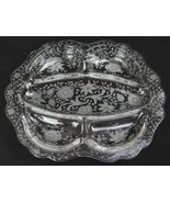 Vintage Cambridge Wildflower Etched Elegant Glass Divided Tray Serving P... - $30.33