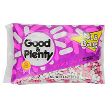 Good & Plenty Fat Free Licorice Candy 5 lbs bags - Single Pack - $20.69