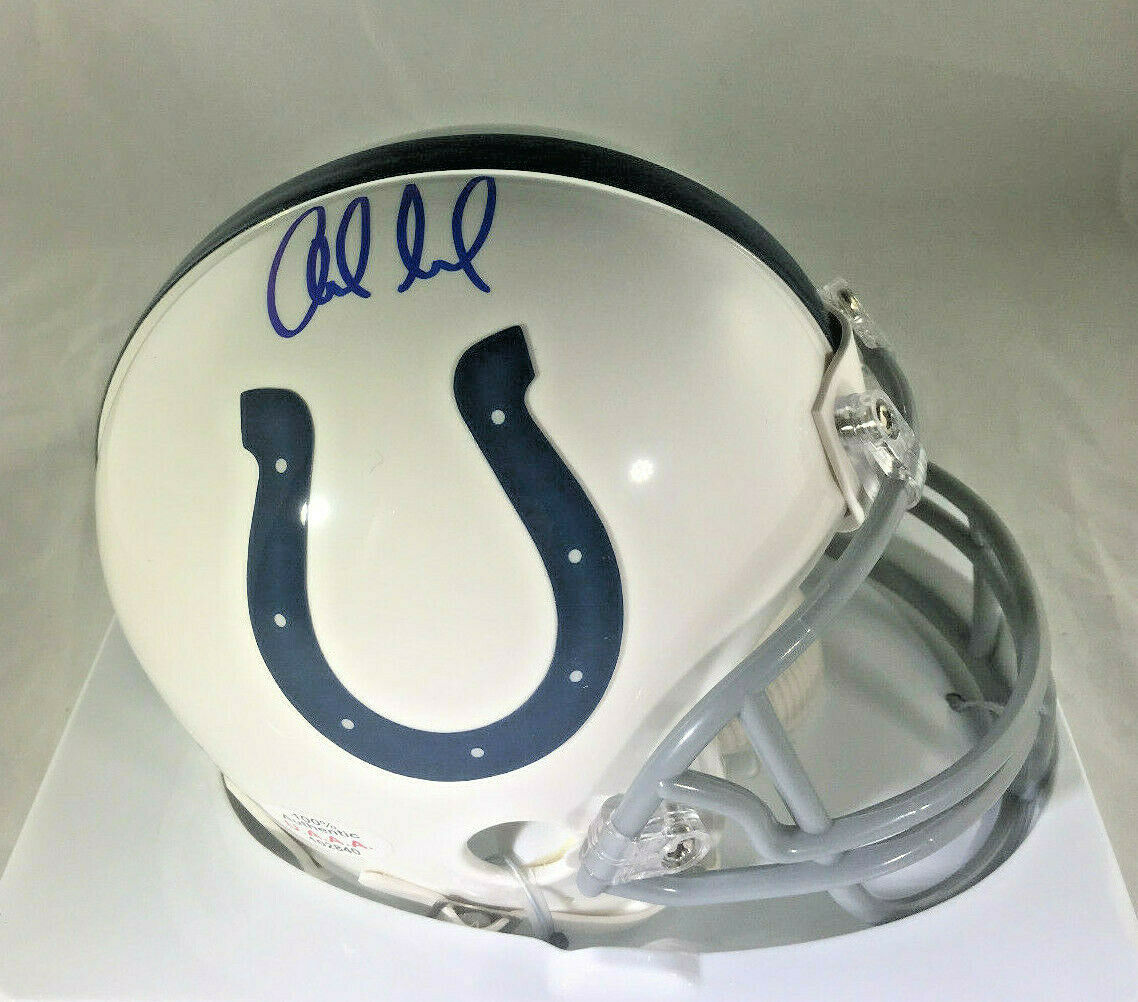 ANDREW LUCK / INDIANAPOLIS COLTS / AUTOGRAPHED COLTS LOGO MINI HELMET / COA