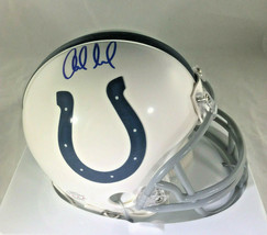ANDREW LUCK / INDIANAPOLIS COLTS / AUTOGRAPHED COLTS LOGO MINI HELMET / COA image 1