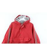 Vintage 90s Gap Streetwear Mens Medium Boxy Fit Lined Hooded Anorak Jacket Red - $59.35