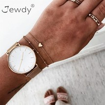 Jewdy® 2 Pcs/Lot Boho Women Multilayer LOVE Heart Bracelet Set For Women... - $3.05