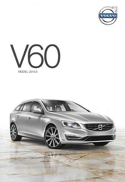 2015.5 Volvo V60 sales brochure catalog folder US T5 T6 AWD R-Design