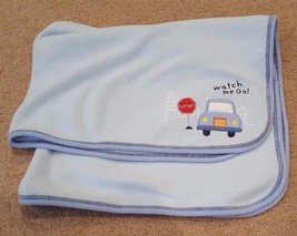 Carters Just One Year Baby Boy Blanket Watch Me Go! Security Lovey Blue ... - $24.87 CAD