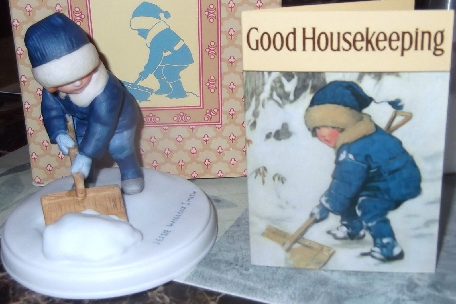 "Primary image for Avon Jessie Wilcox Smith "" A Winter Snow"" Porcelain Figurine"