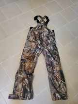 YOUTH REMINGTON INSULATED  HUNTING CAMO GREEN OVERALLS SIZE 14-16 EUC  - $43.55