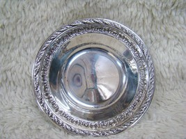 Wallace Silverplated Intricately Designed Bowl, Brand Engraved on Bottom... - $20.99