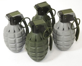 4 Toy Pineapple Grenades with Sound Effects (Green and Gray) - $9.99