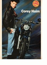 Corey Haim Danny Ponce teen magazine pinup clipping holding 16 magazine Bop