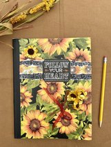Handmade Journal- Sunflower Heart by Wild and Free Shop - $14.00