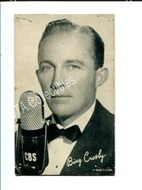 BING CROSBY-ARCADE CARD FR/G - $16.30