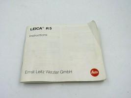 Leica Leitz R5 Camera Instruction Manual - $19.75