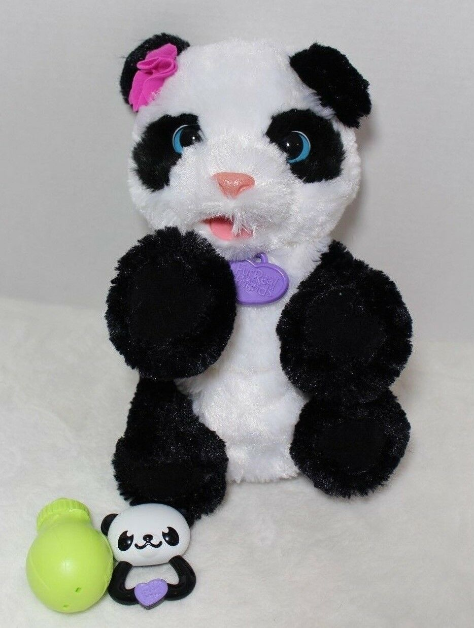 Fur Real Friends Pom Pom My Baby Panda Pet Interactive Plush Hasbro Accessories