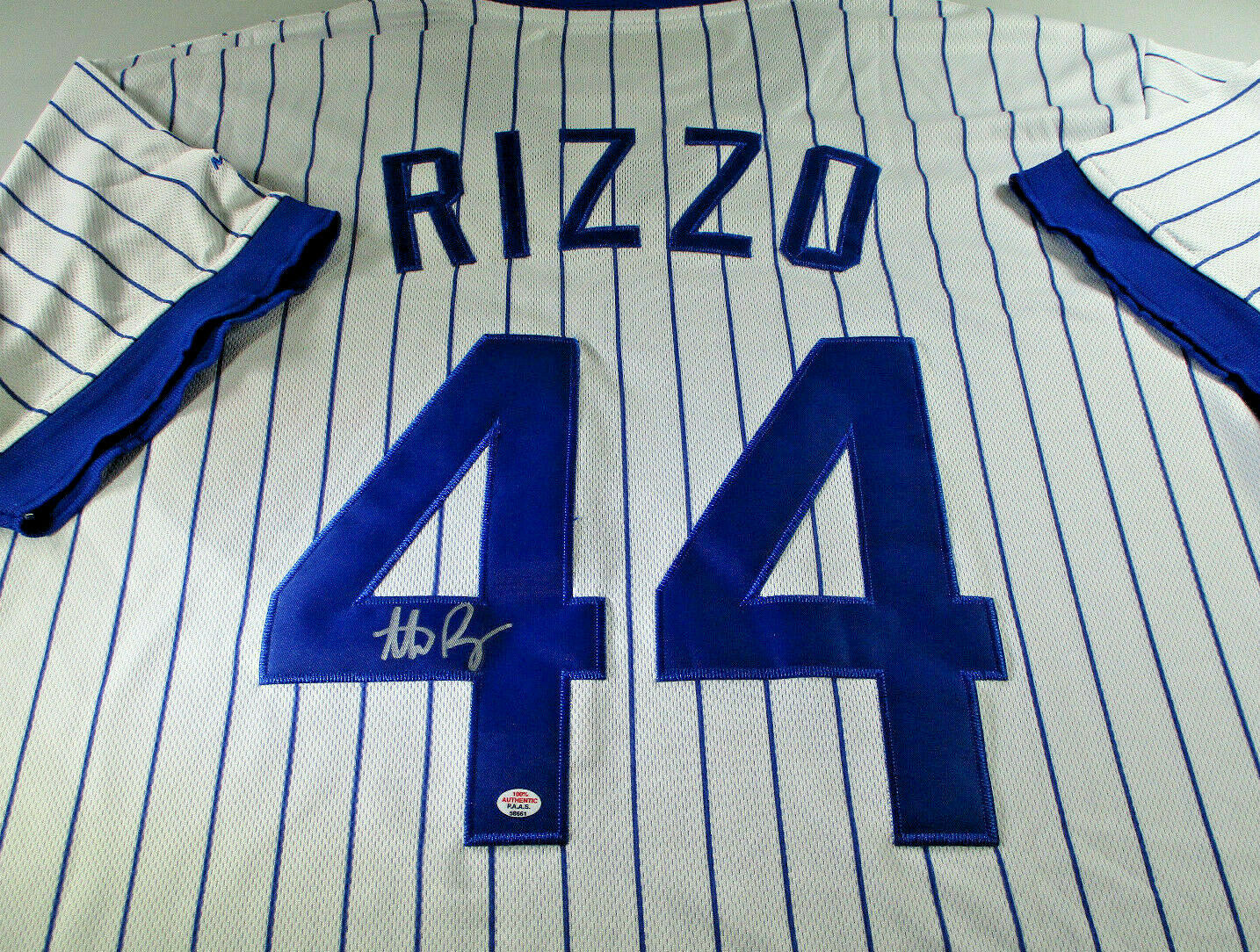 ANTHONY RIZZO / CHICAGO CUBS / AUTOGRAPHED CHICAGO CUBS PRO STYLE JERSEY / COA