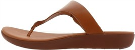 FitFlop Banda II Leather Adjustable Toe Post Sandal CARAMEL 5 NEW 679-496 - $91.06