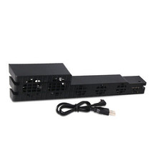 5-Fan ABS Black Gaming Temperature Controller Cooling Cooler For PS4 Pro... - $13.26