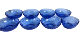 "8 Vintage Hazel Atlas Cobalt Blue Aurora Bowls.1935 Art Deco 7-5 1/2"" & ... - $113.84"
