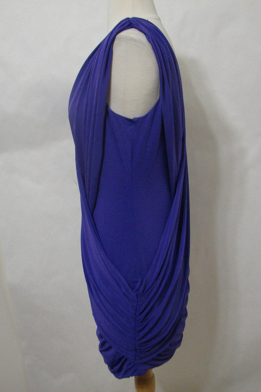 "BCBG Maxazria Lavender Sleeveless Grecian ""Alondra"" Dress NWOT M"