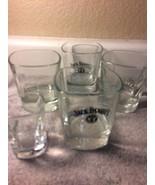 (5) JACK DANIEL'S GLASSES-1 SHOT & 4 TUMBLERS / ROCKS / COCKTAILS--FREE ... - $25.99