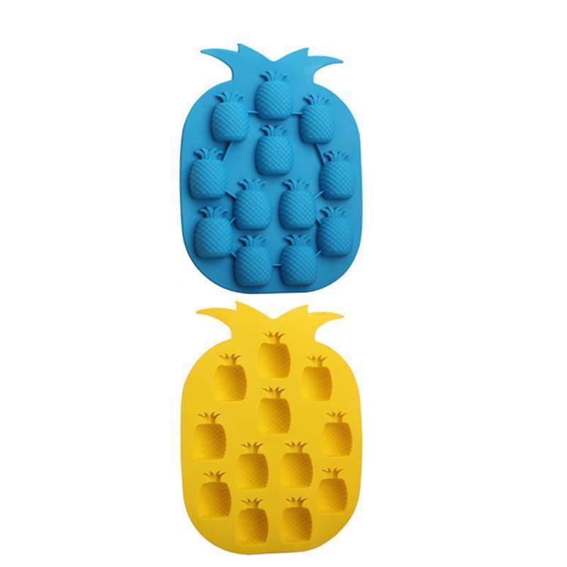 Ice Cube Mold Pineapple Shape Ice Cream Freeze Tray Summer Party Bar Drink Decor