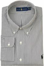 Polo Ralph Lauren Men's Classic-Fit Hairline-Striped Poplin Shirt, Black... - $59.39