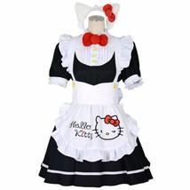 Sanrio Hello Kitty 8mm Cosplay Maid One piece size M Black Costume Kawaii - $89.09