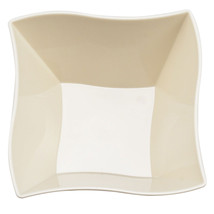Plastic 14 Oz. Beige Wave Soup Bowl/Case of 120 - €62,40 EUR