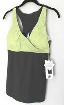 KYODAN Sport ATHLETIC Run TOP Slimming SHIRT Darl Lime SLATE Yoga ( M ) - $79.97