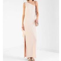 LAUREN RALPH LAUREN One Shoulder Long Dress Slit Frill White Women 4 Fro... - $203.00