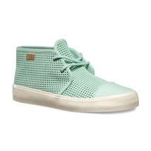 VANS Rhea SF (Square Perf) Gossamer Green Suede Skate Boots Womens Size 8 - $47.95