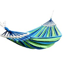 Rusee Double 2 Person Cotton Fabric Canvas Travel Hammocks 450lbs Ultral... - $32.50