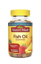 Nature Made Fish Oil Omega-3 Gummies 90 Ct W/ 57 mg of Heart Healthy Ome... - $29.69