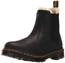 Dr. Martens Leonore Burnished Wyoming Leather Fashion Boot (9|Black) - $138.85