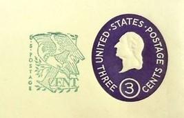 USPS Scott U540 3c Envelope 1c Surcharge Washington Lot of 2 Purple - $4.32
