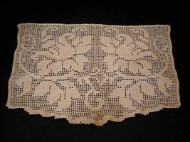 Vintage Crocheted Doily flower and vine pattern