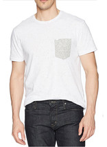 NEW MENS CALVIN KLEIN JEANS CREW NECK WHITE NEP CHEST POCKET  T SHIRT TE... - $16.99
