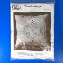 """Cathy Needlecraft CW White Harvest Candlewick Pillow Kit  7801 16"""" Square - $18.80"""