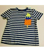 MINI BODEN Boy's 6-7y Popsicle Ice Cream Bar Stripes Short Sleeve SS Shi... - $21.99