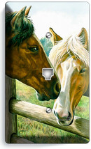 AMERICAN COUNTRY FARM LOVE HORSES KISSING PHONE TELEPHONE COVER PLATE RO... - $11.99