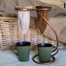 Double Pour Over Coffee Sock Drip Station - $70.00