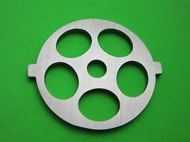 "Meat Grinder plate disc die for electric Waring Pro & Oster w/ 5/8"" Cour... - $13.61"