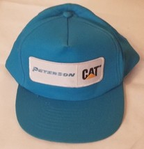 Peterson CAT Caterpillar Patch Hat Machinery Construction Snapback Teal  - $39.59