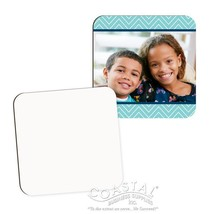 "CUSTOM HARDBOARD SQUARE COASTER - FREE LOGO, TEXT PHOTO - 3.5"" x 3.5"" - £2.32 GBP"