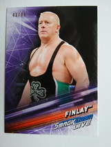 2019 Topps WWE Smackdown #75 Finlay Purple Parallel Wrestling Card 43/99 - $4.99