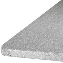 Granite Elasticized Banquet Table Cover-72X30OBLONG-GRAY - $28.73