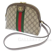 GUCCI Ophidia Web GG Supreme Leather Beige 499621 Shoulder Bag Authentic... - $1,223.90
