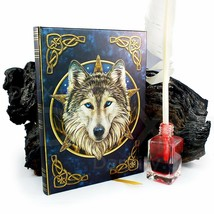 Artist Lisa Parker The Wild One Wolf & Celtic Knot Embossed Journal By L... - $10.89