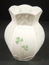 """Viage Belleek Shamrock 4 1/4"""" Tall Vase - Brown Mark - $6.65"""