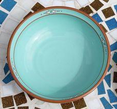 Noritake Stoneware Japan Dinner Plate & Cereal Soup Bowl Boulder Ridge Turquoise image 6